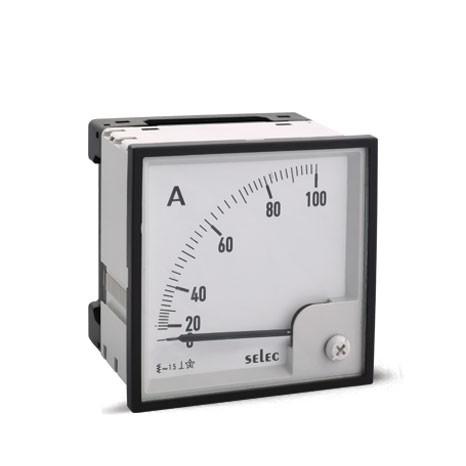 Amperemeter, analog, Direct Measurement 5A, einphasig, 96x96mm, ohne Ziffernblatt