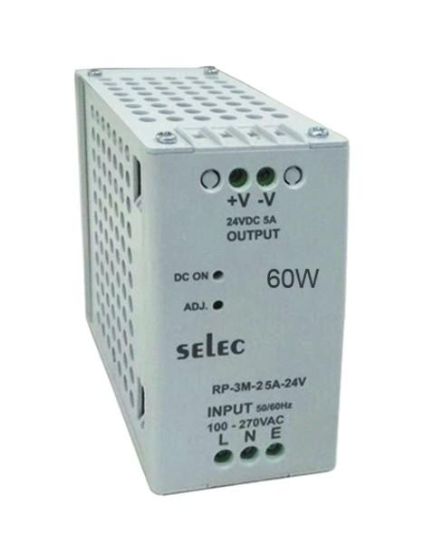 Schaltnetzteil; 2,5A; 60W; 100-270VAC/VDC; O/P: 24VDC; Überlast-/ Überspannungsschutz; Hutschiene, LED Anzeige für DC ok