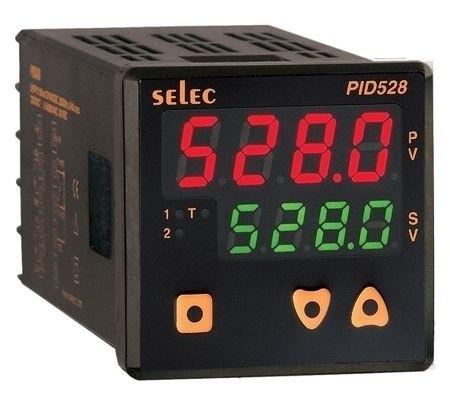 PID Temperaturregler mit Alarmausgang, Relais/Relais, 85-270V, 1/16 DIN