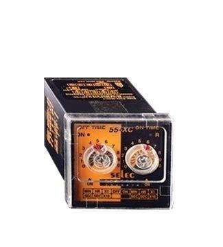 Zeitrelais, analog, Blinker/Taktgeber, 6 Zeitbereiche, 1DPDT, 20-240V, 1/16 DIN Sockelmontage