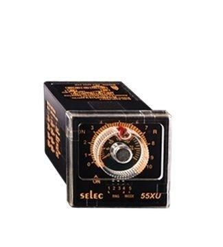 Zeitrelais, analog, Ansprechverzögerung/Einschaltwischer, 12 Zeitbereiche, 1DPDT, 20-240V, 1/16 DIN Sockelmontage