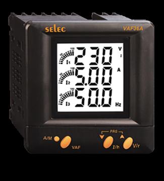 Multifunktionsmeßgerät, dreiphasig, Spannung/Strom/Frequenz, LCD-Anzeige, 110VAC, 1/4 DIN