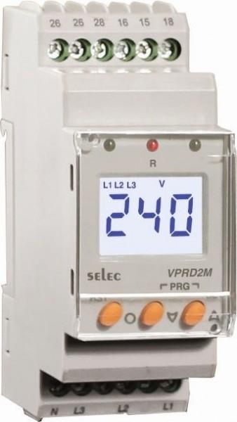 Spannungsschutzrelais, dreiphasig, Über-/Unterspannung / Asymmetrie / Phasenfolge / Phasenausfall, 230VAC,1 DPDT, 35mm DIN-Schiene