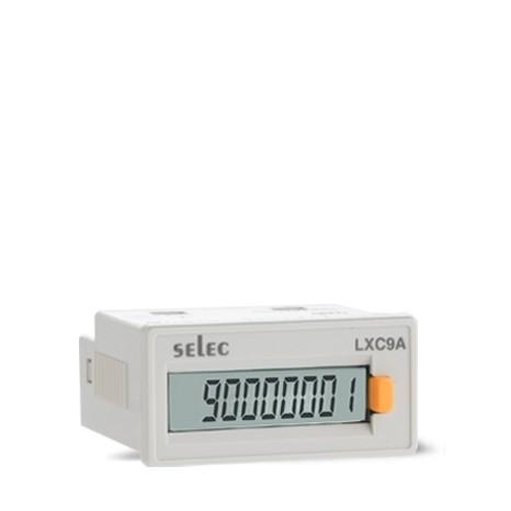 Impulszähler, Spannungseingang, 1x8 Ziffern LCD, Batteriebetrieb, 1/32 DIN, grau