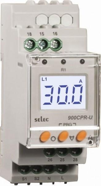 Stromschutzrelais, einphasig, Über-/Unterstrom, 85-270V, 2SPDT, 35mm DIN-Schiene