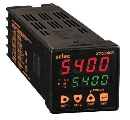 Vorwahlzähler, multifunktional - Impuls/Zeit, 2x4 Ziffern LED, skalierbar, mehrere Zeitbereiche, 2 Vorwahlwerte, 2SPST (2NO), 85-270V, 1/16 DIN