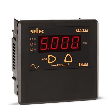 Amperemeter, 0-5AAC, ein-/dreiphasig, 230VAC, 1/4 DIN