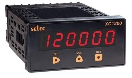 Vorwahlzähler, multifunktional - Impuls/Frequenz, 1x6 Ziffern LED, skalierbar, 2 Vorwahlwerte, 1DPDT, 85-270V, 1/8 DIN