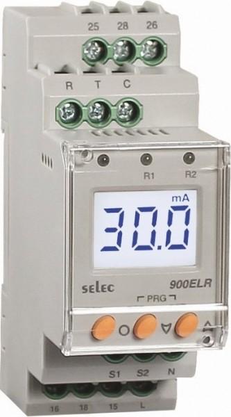 Erdschluss-Schutzrelais, 10mA-30A, 230VAC, 2SPDT, 35mm DIN-Schiene