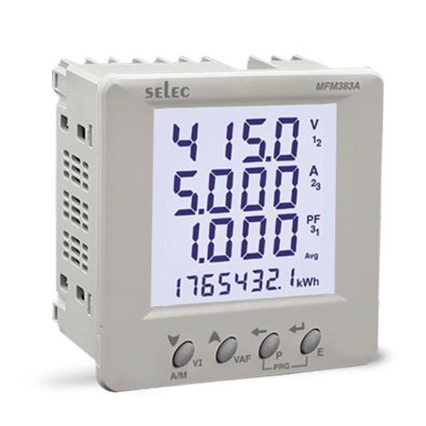 Multifunktionsmeßgerät, dreiphasig, 7 Meßgrößen, LCD-Anzeige, EIA-485, 85-270VAC, 1/4 DIN