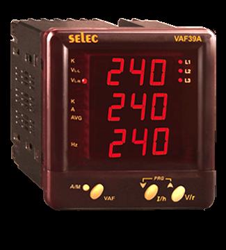 Multifunktionsmeßgerät, dreiphasig, Spannung/Strom/Frequenz, LED-Anzeige, 230VAC, 1/4 DIN
