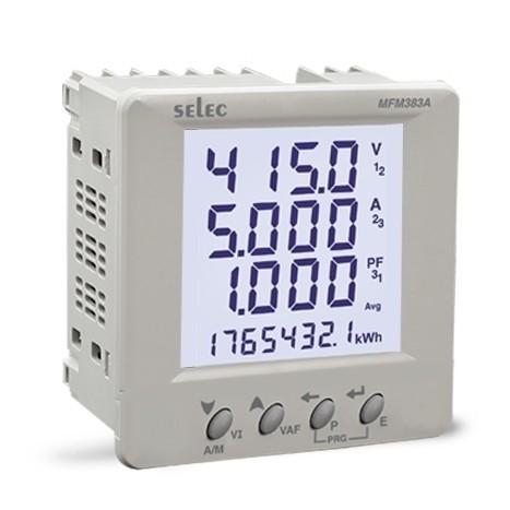 Multifunktionsmeßgerät, dreiphasig, 7 Meßgrößen, LCD-Anzeige, 85-270VAC, 1/4 DIN