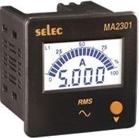 Amperemeter, 0-5AAC, dreiphasig, LCD-Bargraph-Anzeige, 240VAC, 72x72mm