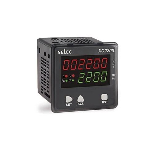 Vorwahlzähler, multifunktional, 1x6 Counter, 1x4 RPM Indicator, skalierbar, 2 Vorwahlwerte, 2DPDT, 90-270V, 72x72mm