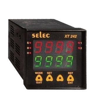 Zeitrelais, digital, 4 Zeitfunktionen, 9 Zeitbereiche, 2 Vorwahlwerte, 2SPDT, 85-270V, 72x72mm