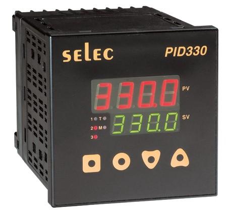 PID Temperaturregler mit Rampen-/Haltefunktion, 0-10V/Relais/Relais, 85-270V, 1/4 DIN