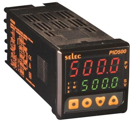 PID Temperaturregler mit Rampen-/Haltefunktion, 0-10V/Relais/-, Eingang für externen Vorwahlwert: 0-10V, EIA-485, 85-270V, 1/16 DIN