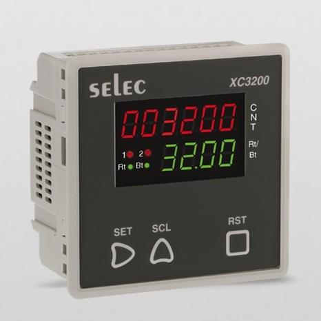 Vorwahlzähler, multifunktional, 1x6 LED, 1x4 LED, skalierbar, 2 Vorwahlwerte, 2DPDT, 90-270V, 96x96mm