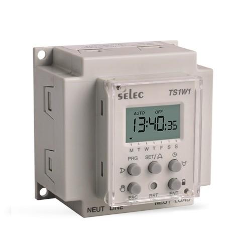 Zeitschaltuhr, digital, 50 An- und Ausschritte, 1 SPDT, 20A, 230VAC, 60x60mm, Wandbefestigung