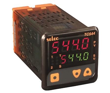 PID Temperaturregler mit Hilfsausgang 24V, 1/16 DIN