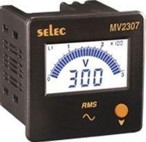 Voltmeter, 50-480VAC, dreiphasig, LCD-Bargraph-Anzeige 240VAC, 72x72mm